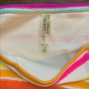 Victoria's Secret Swim - Victoria's Secret multicolored striped swim bottom